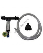 """Venturi felszívó 3/4"""" , szabályzóval -465-1068 l/h, ellenőrző csővel szűrővel(PP)"""