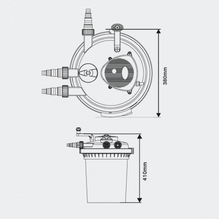 CPF 5000 nyomásszűrő