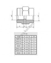 """PVC belsőmenetes toldás 110mm x 4""""BM"""