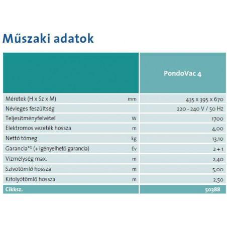 OASE  Pondovac 4  iszapszívó (1800W)