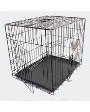 Összecsukható kisállat és kutyaszállító ketrec - S (51392)