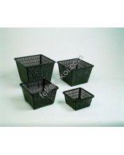 Vízinövény ültető kosár 20x20x9cm (kocka)