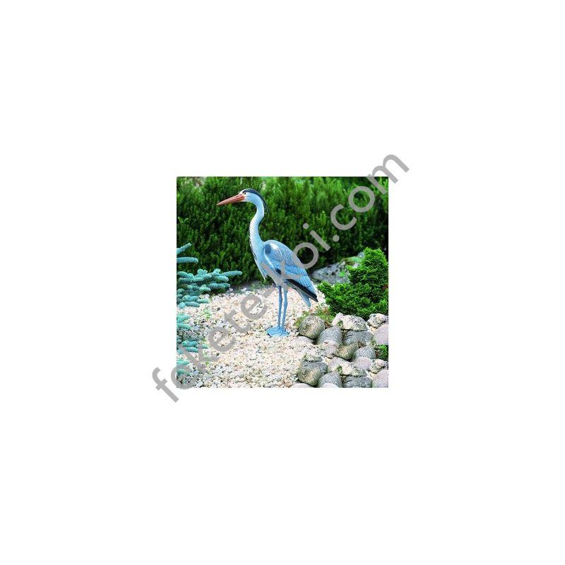 Álló szürke gém , 76 cm - Élethű műanyag madárfigura