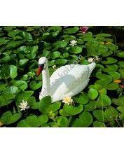 Úszó fehér hattyú, 86 cm - Élethű műanyag madárfigura