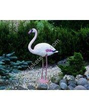Álló flamingó, 88 cm - Élethű műanyag madárfigura