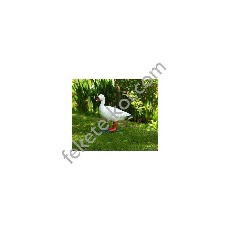 Álló liba fehér, 52 cm - Élethű műanyag madárfigura