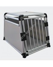 Alumínium Kutyaszállító box 1 ajtós erősített round tube single door (65x65x64cm)