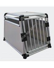 Alumínium Kutyaszállító box 1 ajtós erősített  single door (65x65x64cm)