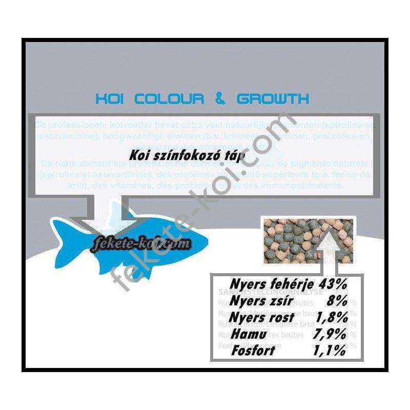 Szinfokozós koi haltáp 3 mm  ( 2500 ml / 1060 g )