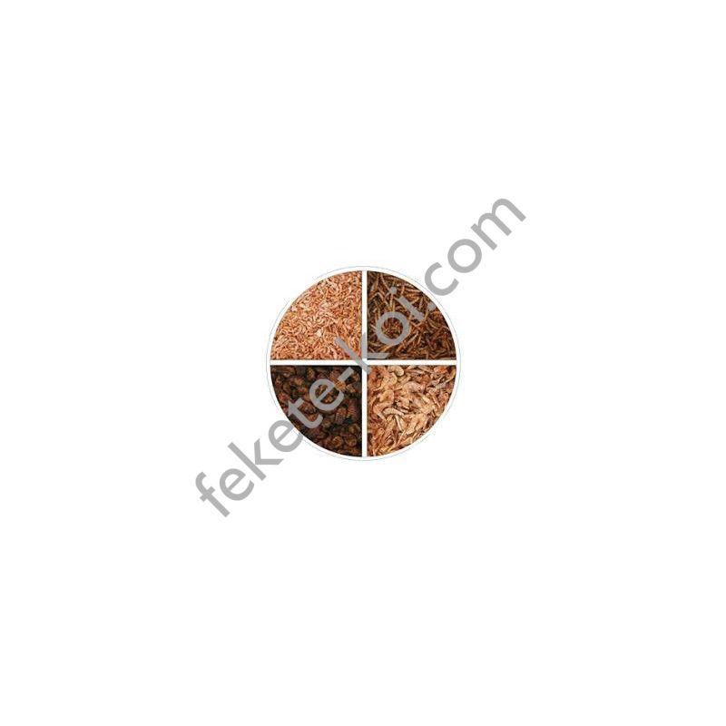 Szárított lárva mix (selyemhernyó, lisztkukac, garnéla, gammarus) 2500 ml ( 500 g )