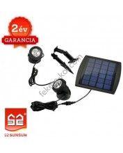 Solar Lámpa 2db-os (Melegfehér fényű)