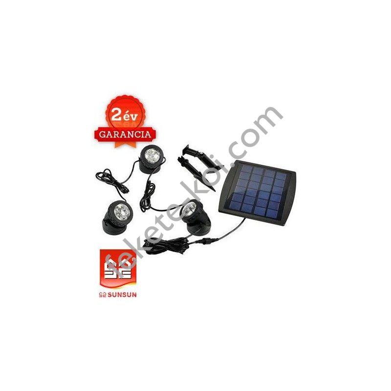 Solar Lámpa 3db-os (Melegfehér fényű)