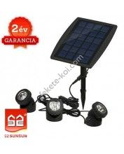 SunSun BSV-SL318C napelemes világításkészlet (Színes)  (3x6Led)
