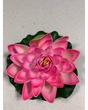 Élethű polifoam Nagy tavirózsa 18cm, Rózsaszín