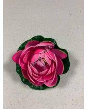 Élethű polifoam Tavirózsa 10cm, Rózsaszín