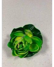 Élethű polifoam Tavirózsa 10cm, Zöld