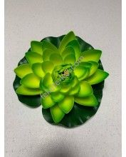 Élethű polifoam Nagy tavirózsa 18cm, Zöld