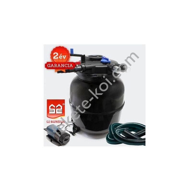 CPF 50000 nyomásszűrő szett 4.Nagyobb vízeséshez(JTP-14000+4m 32 bordás tömlő)