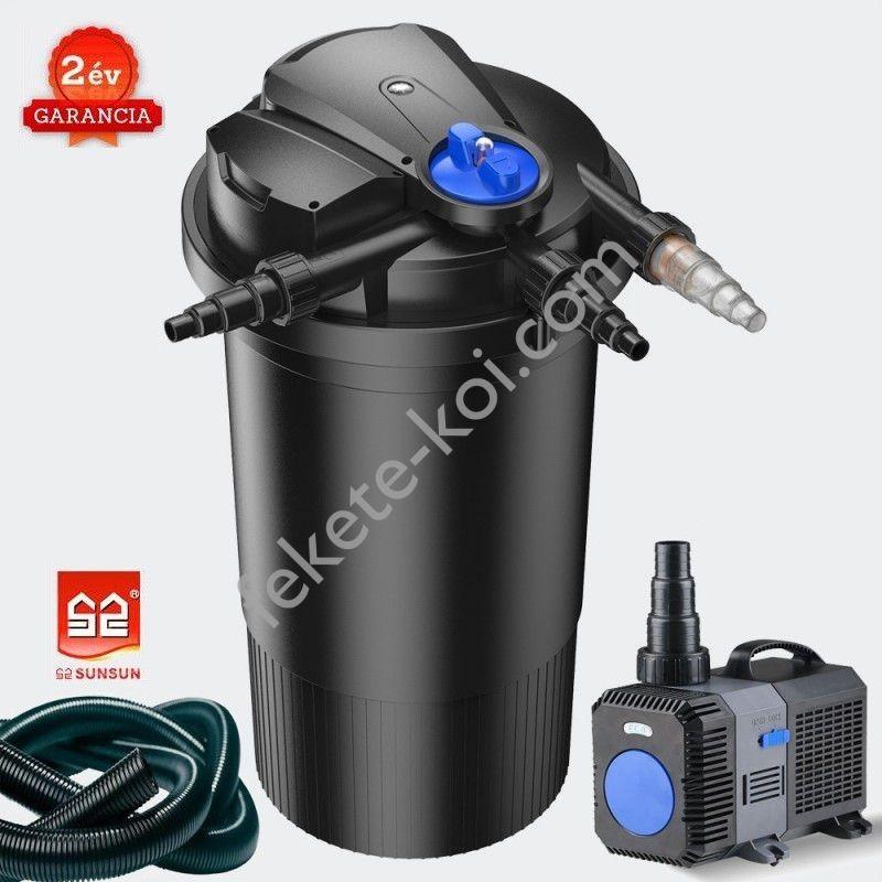 CPA 15000 (18W UVC) nyomásszűrő szett 1.(CTP-8000+4m 32 bordás tömlő)