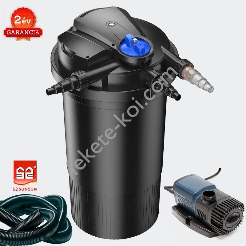 CPA 30000 (55W UVC) nyomásszűrő szett 3.(JTP-10000+4m 32 bordás tömlő)