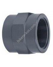 """PVC ragasztható erősített belsőmenetes toldás 50mm x 1 1/2""""BM"""