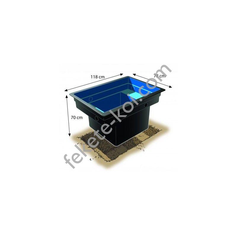 Quadra C1 520 literes műanyag tómeder
