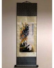 Vászontekercses Kettő Pandás kép 90x30cm