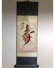 Vászontekercses Csoportos halas kép 90x30cm