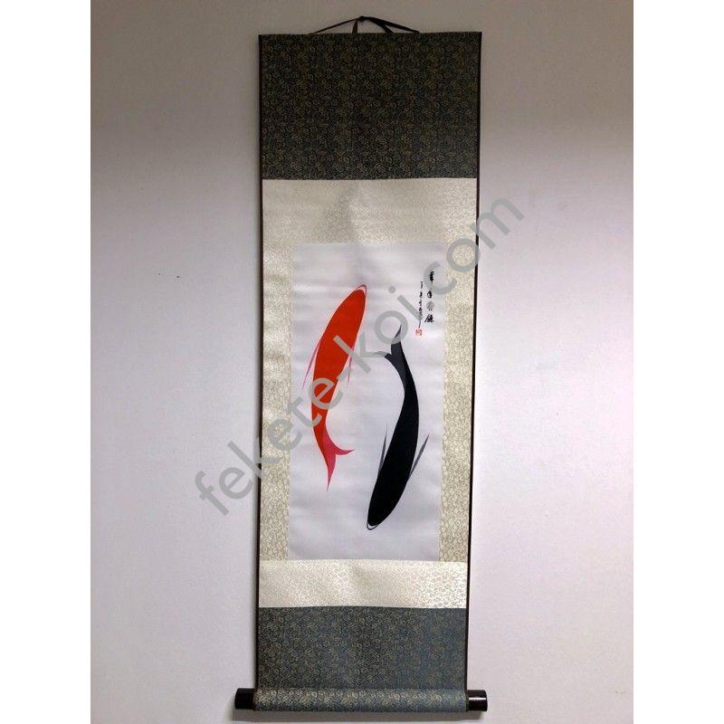 Vászontekercses Kettő halas kép 90x30cm