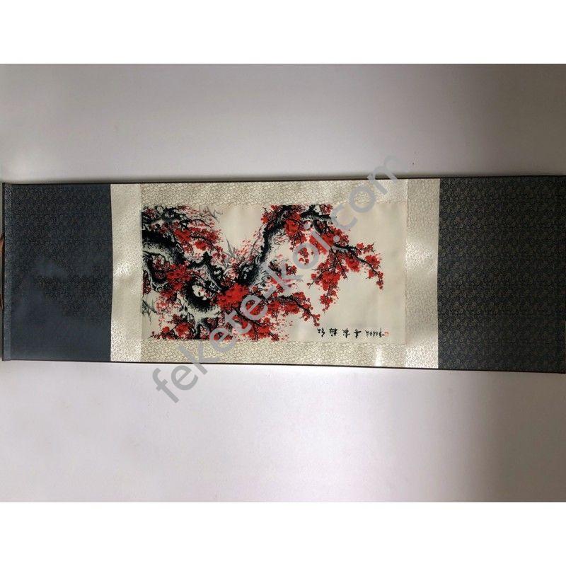 Vászontekercses Virágos kép 135x35cm