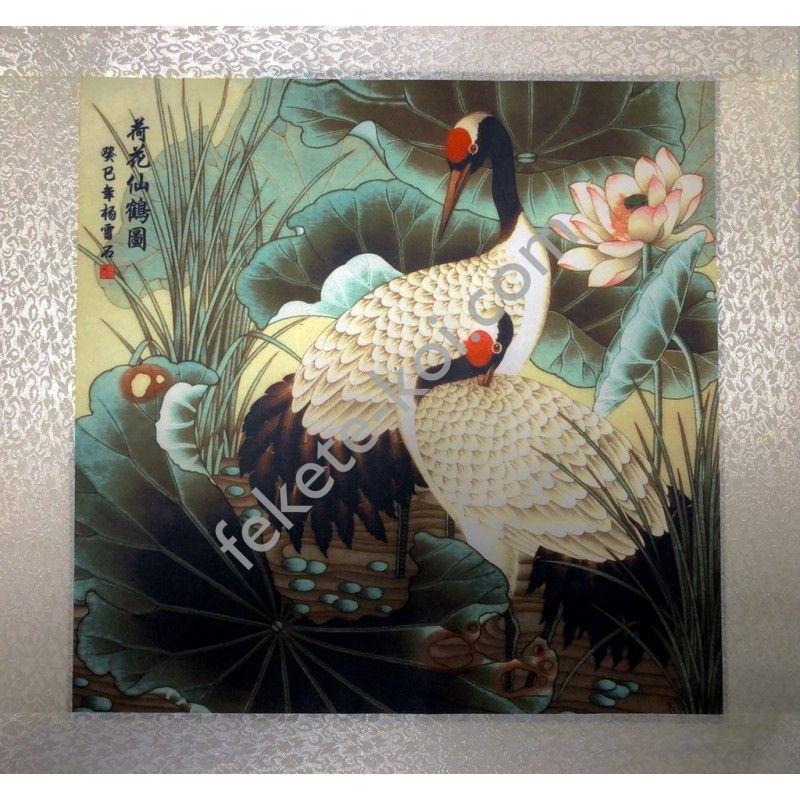 Fali vászonkép Daru madarak 45x45cm