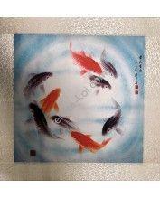 Fali vászonkép Körbe úszó halakkal 45x45cm