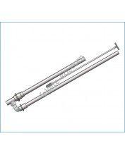 PVC pumpa 2db visszacsapó szeleppel 32/32-40-40(húzószárral)