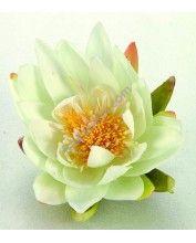 Selyemvirág, krémszínű tavirózsa,16 cm (1389446)