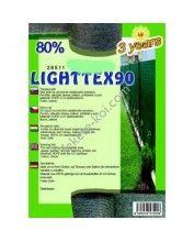 Belátásgátló, szélfogó és árnyékoló háló LIGHTTEX 90 1x10m 80% / 28500