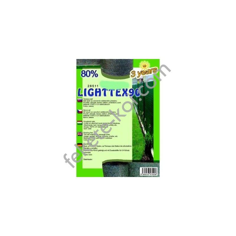 Belátásgátló, szélfogó és árnyékoló háló LIGHTTEX 90 1 m x 50 m 80% / 28502