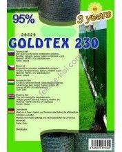 Belátásgátló, szélfogó és árnyékoló háló GOLDTEX 230 1,5x10m 95% / 28533