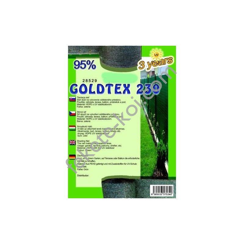 Belátásgátló, szélfogó és árnyékoló háló GOLDTEX 230 1,5 m x 10 m 95% / 28533