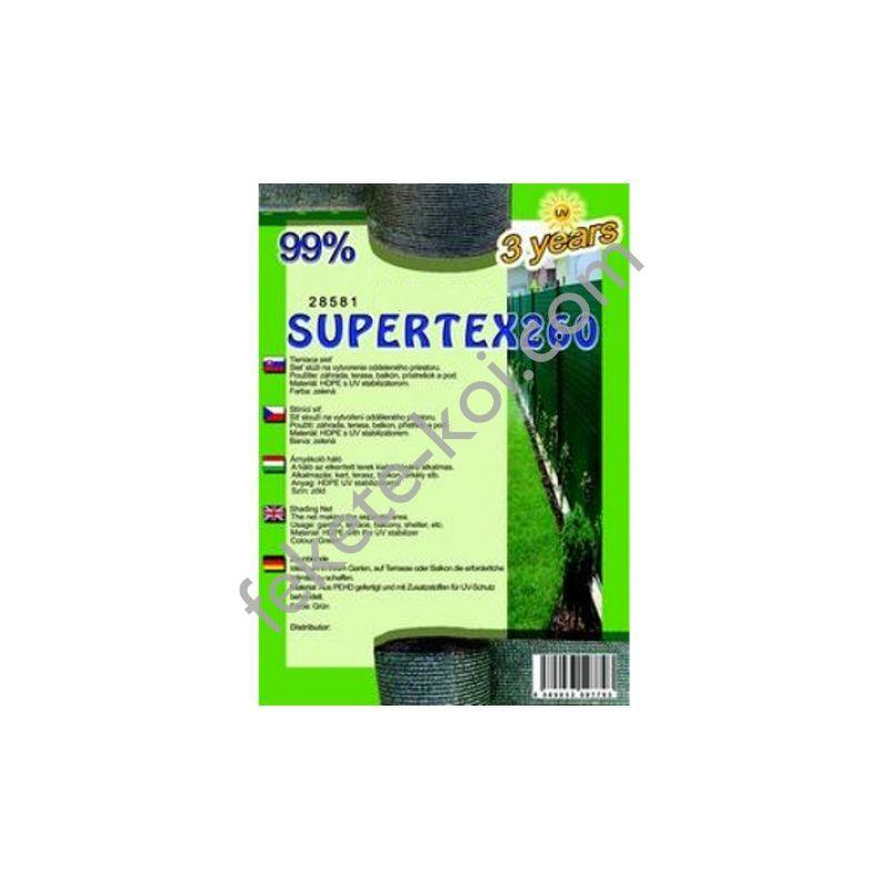Belátásgátló, szélfogó és árnyékoló háló SUPERTEX260 1,8 m x 10 m 99% / 28583