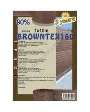 Belátásgátló, szélfogó és árnyékoló háló Browntex 160 1,5x10m 90% / 28593