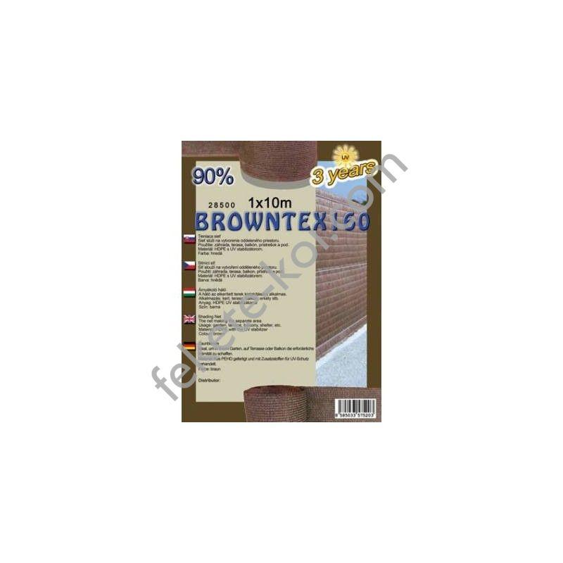 Belátásgátló, szélfogó és árnyékoló háló Browntex 160 1x10m 90% / 28591