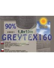 Árnyékoló háló GREYTEX 160 2x10m 90% Antracit szürke / 28605