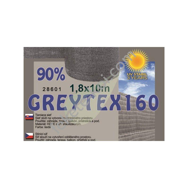 Árnyékoló háló GREYTEX 160 2 m x 10 m 90% Antracit szürke / 28605