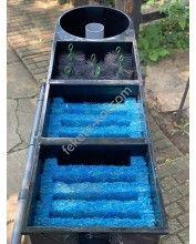 Holland 3kamrás+vortex kerti tó gravitációs szűrő szett (325L)