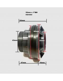 """PVC tartály szerelvény 32mm x 1""""BM( átvezető,összekötő)"""