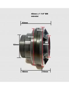 """PVC tartály szerelvény 40mm x 1 1/4"""" BM(átvezető,összekötő)"""