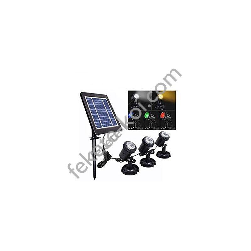 SunSun BSV-SL203C3 napelemes világításkészlet (Színes)