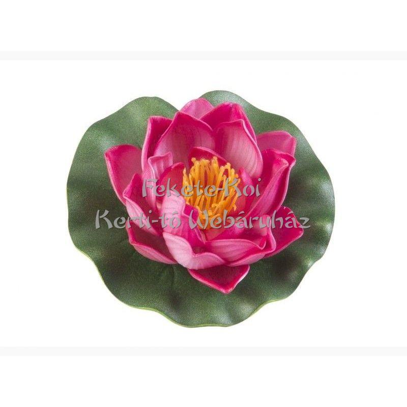 Lótus virág fuchsia színű úszó 10 cm (123582)