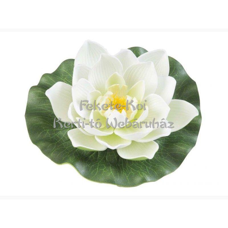 Tavirózsa  virág fehér színű úszó 17 cm (123586)