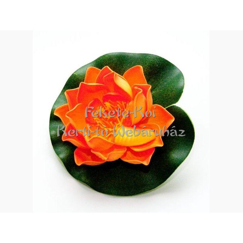 Lótus virág narancs színű úszó 10 cm (123632)